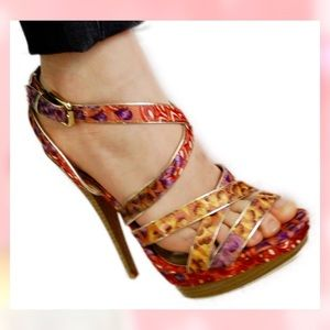 Shoes - NWOT HIGH HEEL SANDALS that are Bright & Playful!